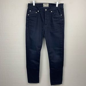 Acne Studios Town Twilight  Dark Blue Skinny Jeans